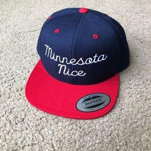 0e25cb62f1f The Minnesota Nice Company Accessories - Minnesota Nice Snapback Cap in red